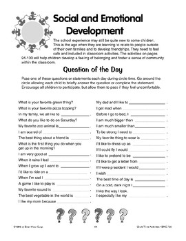 Circle Time Activities for Social and Emotional Development