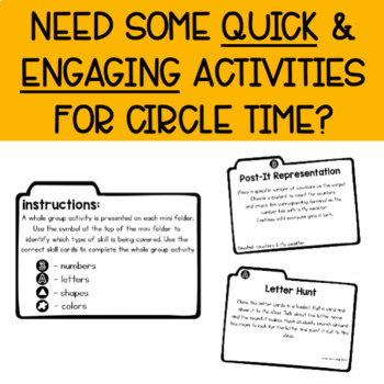 Circle Time Activity Cards