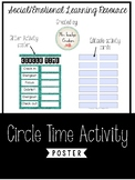 Circle Time Activity Poster Editable