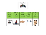 Circle Time Behavior Autism Special Education Visual Support