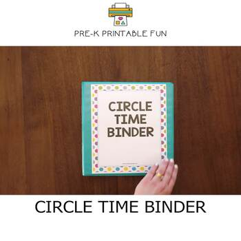 Circle Time Binder for Pre-K Daycare or Homeschool