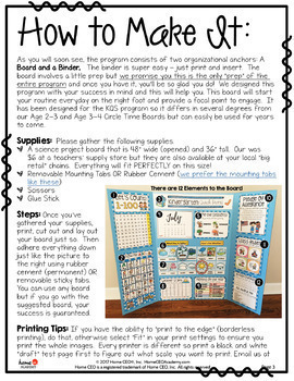 Circle Time Board By Home CEO Academy - For Preschool, PreK or Homeschool
