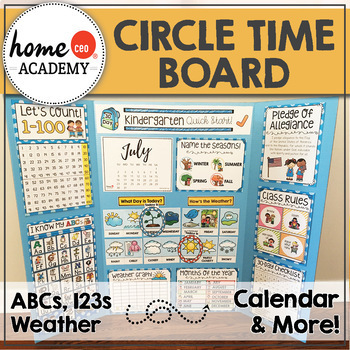 Circle Time Board - Preschool Days of the Week and Weather