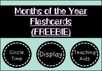 Months of the Year Flashcards (3 Sets)