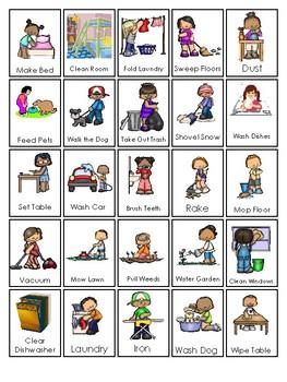 Printable Chore Chart. Chores and Responsibilites Chart.