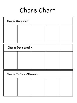 picture about Printable Allowance Chore Chart identified as Printable Chore Chart. Chores and Responsibilites Chart.