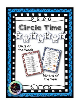Circle Time FREEBIE - Days of the Week and Months of the Year