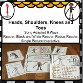 Circle Time Fun Song, Head, Shoulder, Knees and Toes Adapted 6 Ways