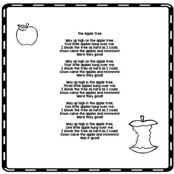 Circle Time Fun: Way Up High On The Apple Tree poem Interactive