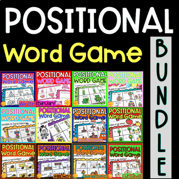 Positional Word Game BUNDLE | Special Education and Autism Resource