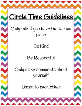 Circle Time Guidelines