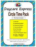 Circle Time Pack (Daycare Ideas, Calendar, Weather Chart & More)
