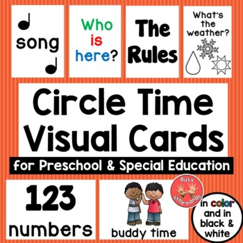 Circle Time Schedule Cards for Preschool