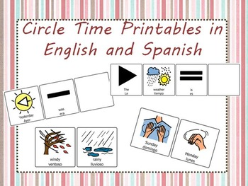 Circle Time Printables with Picture Symbols