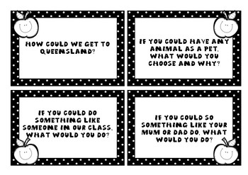 Circle Time Question Cards