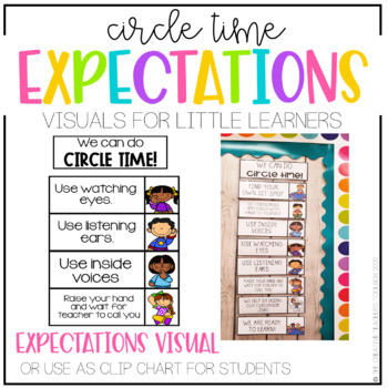 Circle Time Routine Book and Visual Display