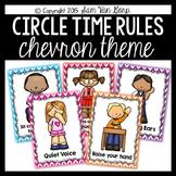 Circle Time Rules Posters {Chevron Theme}