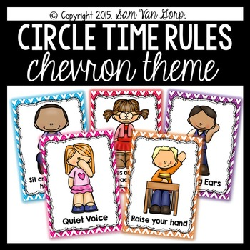 Circle Time Rules Posters {Chevron Theme}