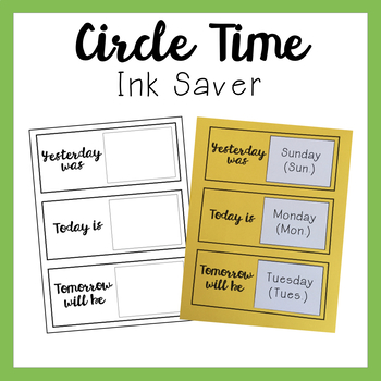 Circle Time Set - Ink Saver