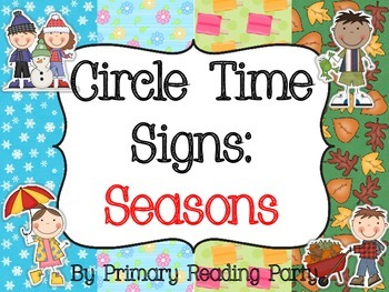 Circle Time Signs: Seasons