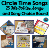 Circle Time Song Bundle toddlers preschool special education speech language
