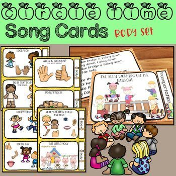 Circle Time Song Cards - Body Songs Set
