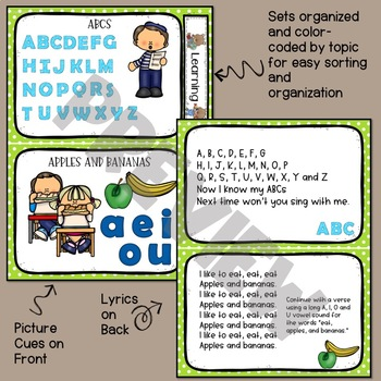 Circle Time Song Cards - Learning Songs for PreK and Kindergarten