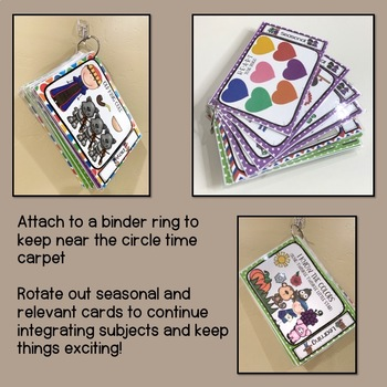 Circle Time Song Cards - Nursery Rhymes for Preschool & Kindergarten
