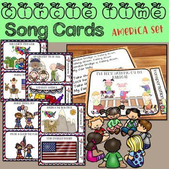 Circle Time Song Cards - Patriotic Songs