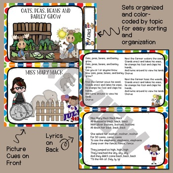 Circle Time Song Cards - Playful and Fun
