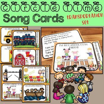 Circle Time Song Cards - Transportation Set