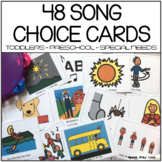 Circle Time Songs Choice Cards with Visuals   Preschool  