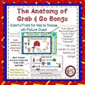 Circle Time Songs Growing Bundle for Finger Plays, Songs and Nursery Rhymes