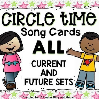 Circle Time Song Cards Finger Plays, Songs and Nursery Rhymes - Growing Bundle