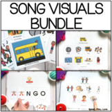 Circle Time Songs Visuals Bundle - Song Choice Cards & Son