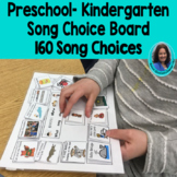 Preschool-Kindergarten song choice board: Regular and Spec