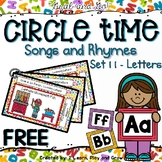 Circle Time Songs and Finger Plays Learning Letters SET 11