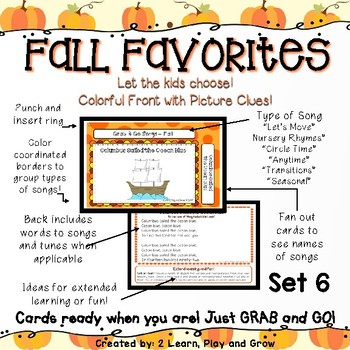 Circle Time Songs for Fall Halloween and Thanksgiving