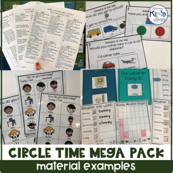 Morning Meeting Curriculum for a Year MEGA PACK for Special Ed