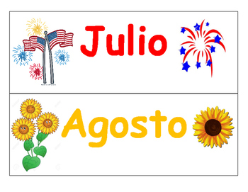 Circle Time words (SPANISH)