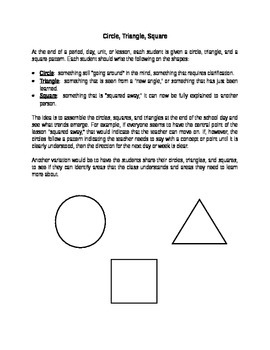 Circle, Triangle, Square Activity