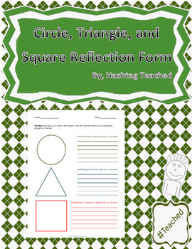Circle, Triangle and Square Reflection Form Template