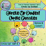 Circle Up Dot Dudes 2! 4 Different Logic Puzzles, Color Logic, Early Finishers