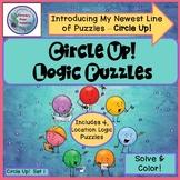 Circle Up Dot Dudes! Logic Puzzles, Color Logic,  Centers, Brain Teasers
