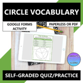 Circle Vocabulary Google Forms Quiz Practice Distance Learning