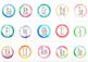 Circle Watercolour Alphabet Posters