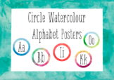 Circle Watercolour Alphabet Posters