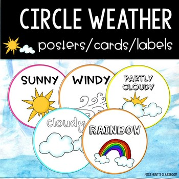 Circle Weather Posters/Cards/Labels {6 different font styles}