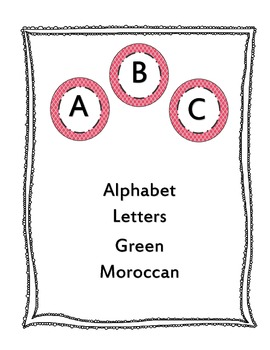 Circle Word Letters with Raspberry Moroccan Background