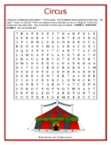 CIRCUS Word Search Puzzle (Challenging)